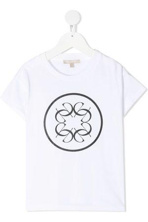 ELIE SAAB JUNIOR Girls Short Sleeve - Logo-print cotton T-shirt