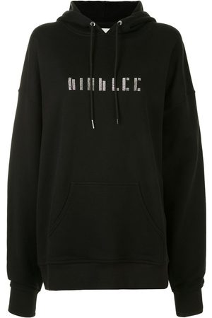 DION LEE Women Long Sleeve - Crystal-embellished long-sleeved hoodie