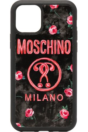 Moschino Floral logo print iPhone 11 case