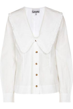 Ganni Women Blouses - Cotton poplin blouse