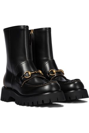 Gucci Women Ankle Boots - Horsebit leather ankle boots