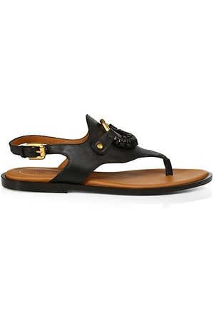 See by Chloé Hana Leather Slingback Thong Sandals