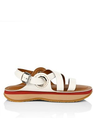 See by Chloé Ysee Leather Flatform Slingback Sandals