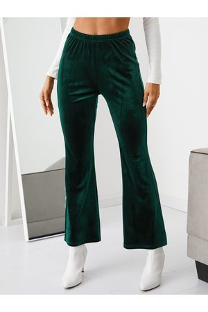 YOINS Velvet Stretch Waistband Flare Pants