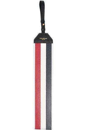 Thom Browne RWB-stripe luggage tag