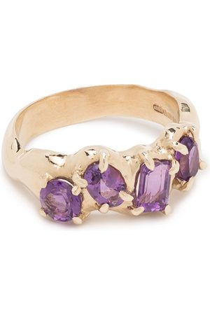 SUSANNAH KING 9kt yellow amethyst multi set ring