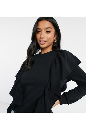 Vero Moda Sweater with side ruffle detail in