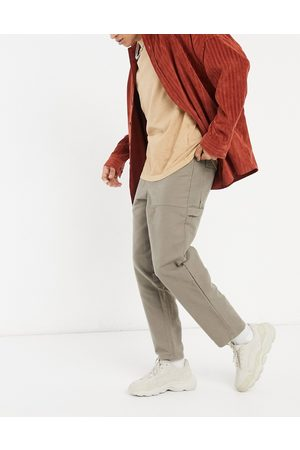 ASOS Men Pants - Balloon fit trousers with carpenter details in