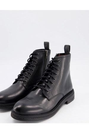 WALK LONDON Wolf lace up boots in leather