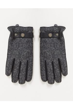 Boardmans Leather and tweed gloves