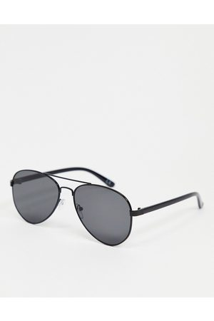 ASOS Aviator sunglasses in with smoke lens