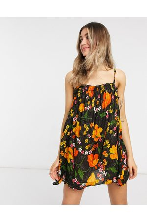 ASOS Flutter edge beach sundress in enchanted floral print