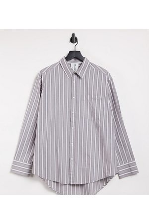 COLLUSION Unisex oversized shirt in stripe
