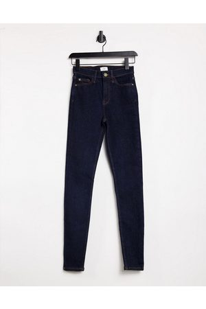 River Island High rise skinny jeans in indigo
