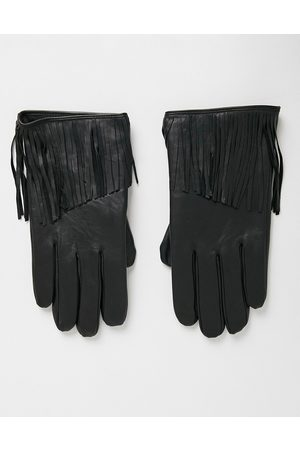 ASOS Leather gloves in with tassel detail