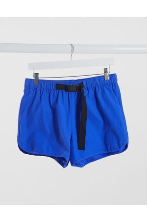 ASOS Runner swim short with belt fastening in