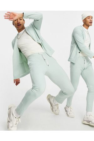 ASOS Super skinny soft tailored suit trousers in mint jersey
