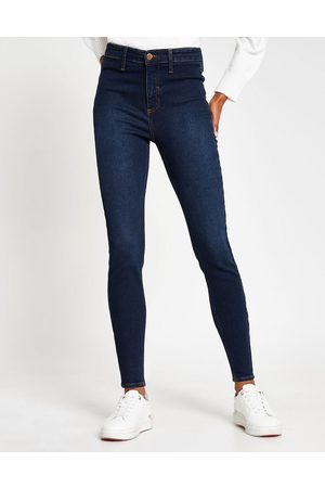 River Island Kaia high rise skinny jeans in dark wash