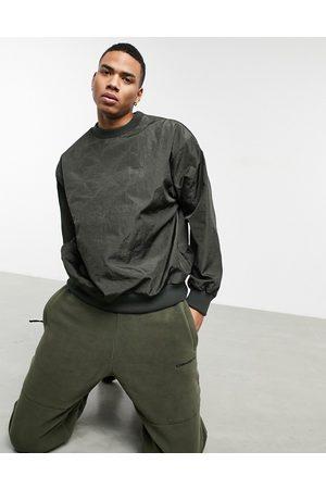 ASOS Oversized quilted sweatshirt in khaki