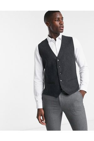 Jack & Jones Premium waistcoat in herringbone