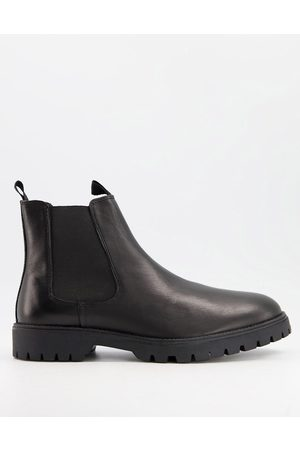 ASOS Chelsea boots in leather with chunky sole