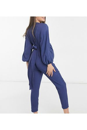 ASOS Maternity kimono sleeve button through tea jumpsuit in