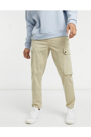 Topman Tapered cargo trousers in