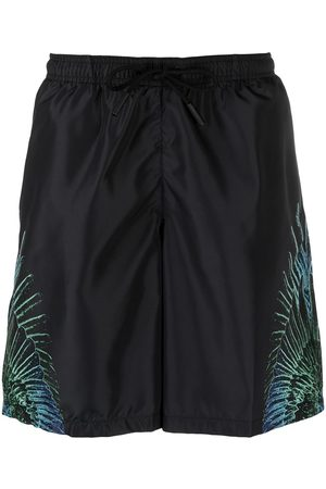 MARCELO BURLON WINGS BOARDSHORT BLUE NEON
