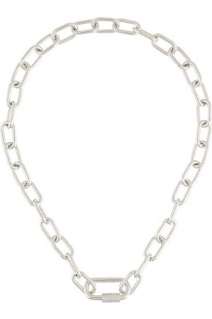 APM Monaco Curb-chain zirconia-embellished necklace