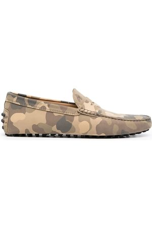 Tod's Camouflage-print leather loafers