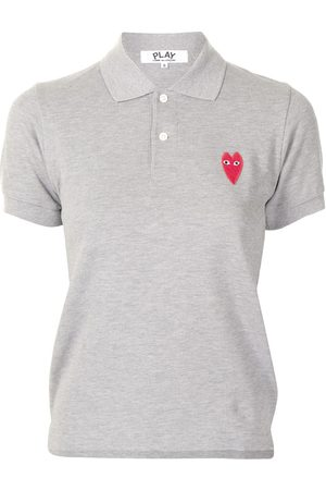 Comme des Garçons Embroidered-logo short-sleeved polo shirt