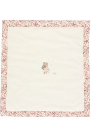 Il gufo Floral-bordered blanket