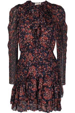 ULLA JOHNSON Cecily Cosmos-print mini dress