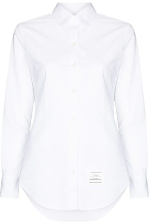 Thom Browne Grosgrain-loop long-sleeve shirt