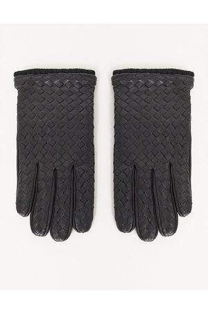 ASOS Leather driving gloves in with texture detail