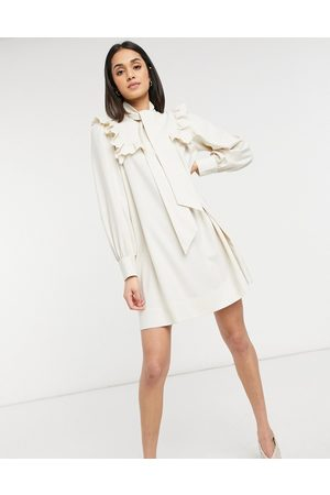 & OTHER STORIES Smock mini dress with ruffle detail in