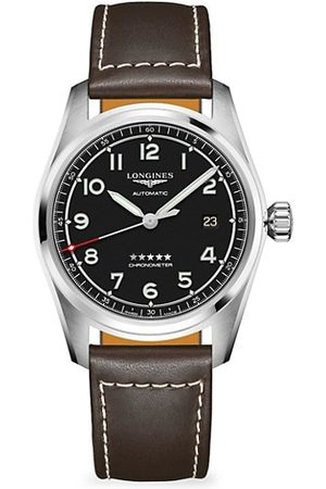 Swatch Longines Spirit Stainless Steel & Leather-Strap Watch