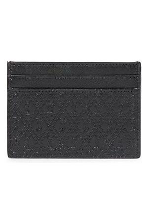 Saint Laurent Embossed Logo Leather Card Holder
