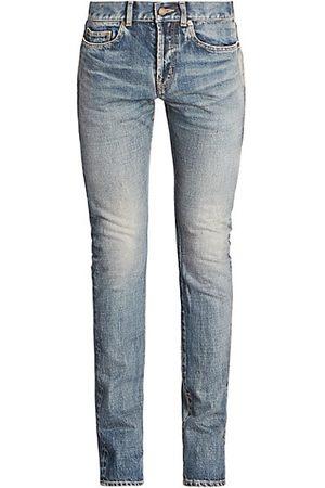 Saint Laurent Slim-Fit Faded Jeans