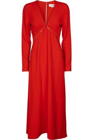 Victoria Beckham Embellished cady midi dress