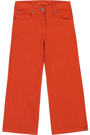 Stella McCartney Stretch-cotton wide-leg jeans