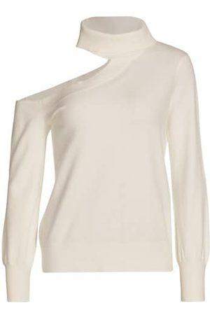 L'Agence Easton Cold-Shoulder Sweater