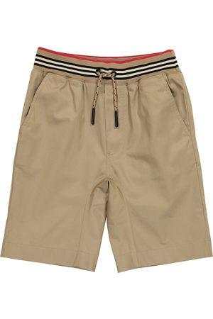 Burberry Icon Stripe cotton twill shorts