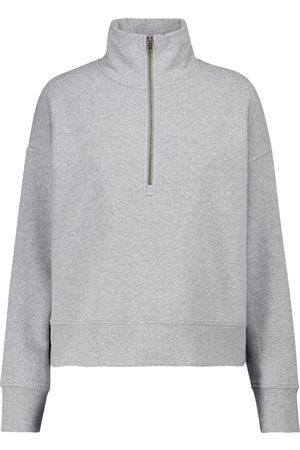 Vince Cotton-blend terry half-zip sweatshirt