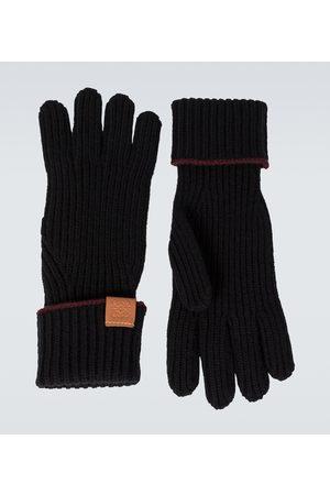 Loewe Knitted wool gloves