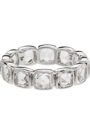 TOM WOOD Cushion Band Rock crystal-embellished ring