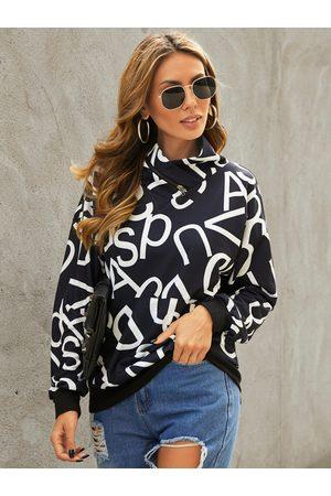 YOINS Pullover Letter Pocket design Sweatshirt