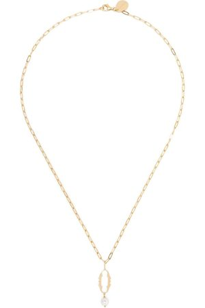 Simone Rocha Pearl-embellished 0 letter necklace