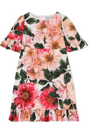 Dolce & Gabbana Floral-print short-sleeved dress