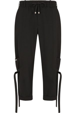 Dolce & Gabbana Lace-up cropped jogging trousers